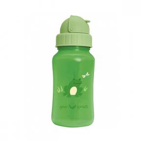 Sticla cu pai din silicon, verde, Green Sprouts