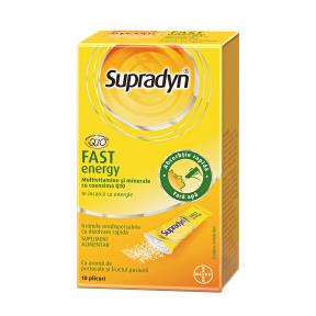 Supradyn fast energy, Q10, 10 plicuri, Bayer