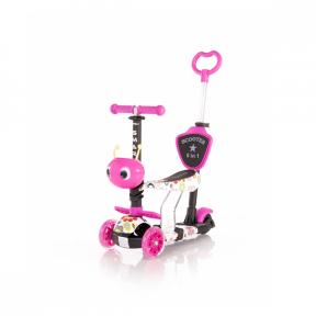 Trotineta pentru copii, Smart Plus, Pink Flowers, Lorelli