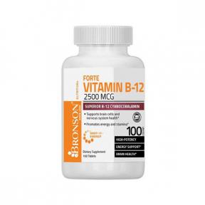 Vitamina B-12 2500 mcg Shot of Energy, 100 tablete, Bronson Laboratories