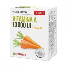 Vitamina A 10000 UI, 30 capsule, Parapharm