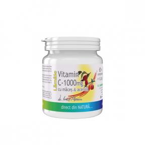 Vitamina C lamaie 1000mg, 10 capsule, Pro Natura