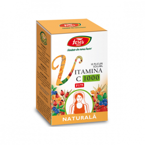 Vitamina C 1000 naturala, F175, 10 plicuri, Fares