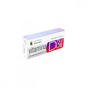 Vitamina D3 2000UI, 30 comprimate, Laboratoarele Remedia