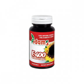 Vitamina E Naturala 400 UI, 30 capsule gelatinoase, Adams Vision