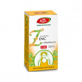Zinc si Vitamina D3, 30 capsule, Fares