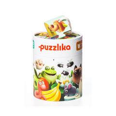 Puzzle Ce mananca, 20 piese, 2 ani+, Cubika