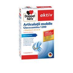 Articulatii mobile, glucozamina 1200mg, 30 comprimate, Doppelherz