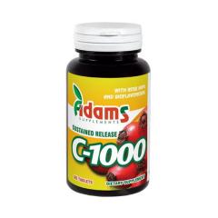 C-1000 cu macese, 60 tablete, Adams Vision