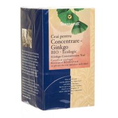 Ceai pentru concentrare Ginkgo, ECO, 20 plicuri, SONNENTOR