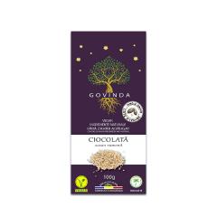 Ciocolata artizanala cu susan rumenit, 100g, GOVINDA