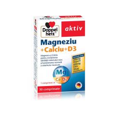 Magneziu + Calciu + D3, 30 comprimate, Doppelherz