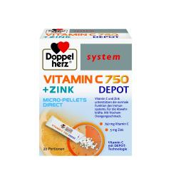 Vitamina C 750 + Zinc Depot Direct, 20 plicuri, Doppelherz