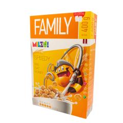 Cereale cu secara bilute cu miere Speedy, 400g, Milzu!