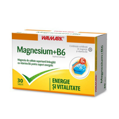 Magneziu +B6, 30 comprimate, Walmark