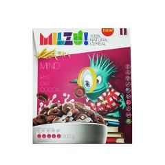 Cereale cu secara inele cu cacao Mind, 200g, Milzu!