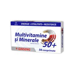 Multivitamine+Multiminerale cu Ginseng, 50+,  56 comprimate,  Zdrovit
