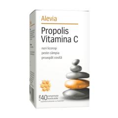 Propolis vitamina C, masticabile, 40 capsule, Alevia