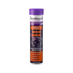 Immuno Forte + Vitamina C + Zinc, Tablete efervescente, 15buc, SAMBUCOL