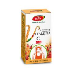 Vitamina C naturala, 60 comprimate, Fares