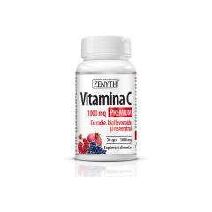 Vitamina C Premium cu rodie, 1000mg, 30 capsule, Zenyth