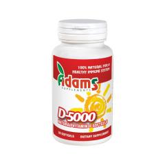 Vitamina D-5000, softgel, 30 capsule, Adams Vision