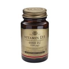 Vitamina D3, 4000UI, 60 capsule, Solgar