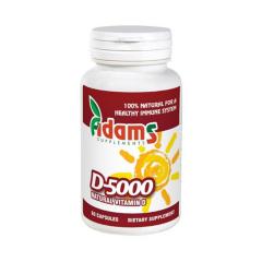 Vitamina D 5000 UI, 60 tablete, Adams Vision